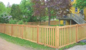 custom craftsman picket wood fence