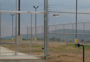 commercial security fence gate