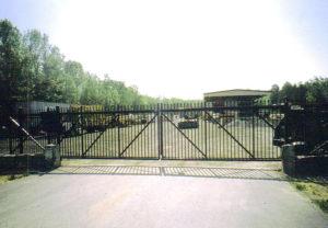 commercial ornamental slide gate