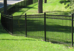 residential majestic 3 rail ornamental fence with rings