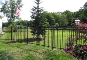 residential majestic 3 rail ornamental fence