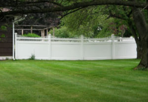 residential New Mexico concave pvc fence