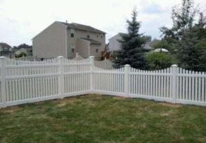 residential Georgia scallop pvc fence