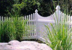 residential Georgia concave pvc fence