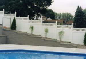 residential california pvc lattice fence