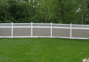 residential arizona with weathers cedar boards pvc fence