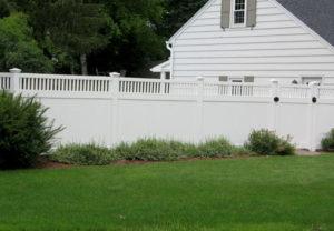 residential arizona pvc white fence