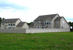 residential arizona pvc tan fence