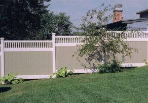 residential arizona pvc two-tone fence