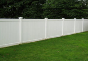 residential Oregon straight pvc fence
