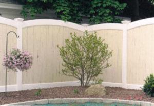 residential Oregon convex pvc fence