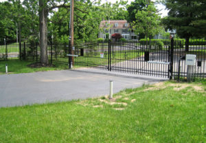 residential ornamental estate slide gate