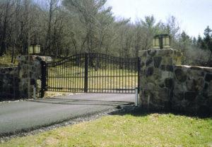 residential ornamental estate gate