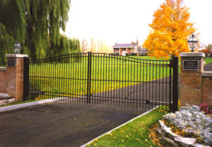 residential ornamental estate gate
