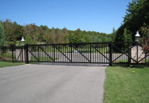 residential estate slide gate