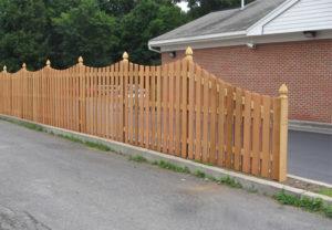 Middleborough Style Cedar Privacy Fence