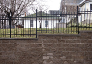 Classic 3-Rail style Ornamental commercial Fence