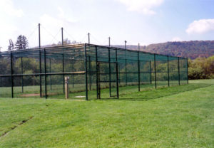 baseball or softball batting cage fencing