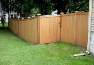 residential craftsman wood fence