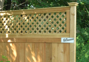residential courtyard wood fence