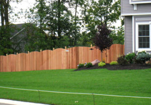 residential convex middborough wood fence